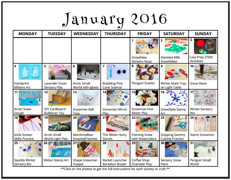 A calendar of fun from lalymom.com